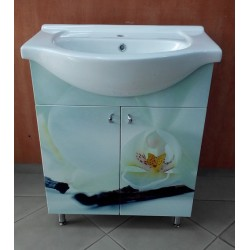 Mobilier de baie Creamy Orchid 65 cm cu lavoar HFL 650