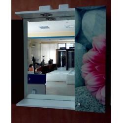 Oglinda cu dulap Pink Gerbera 65 cm
