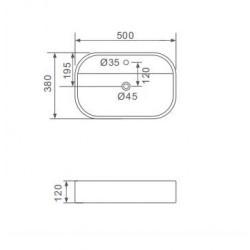 Mobilier de baie ECE Clasic 75 cm cu usi de sticla cu 3506