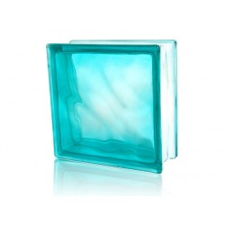 Caramida de sticla Cloudy Turquoise